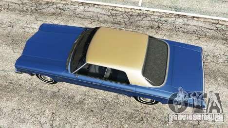 Oldsmobile Delta 88 1973 v2.0 для GTA 5 вид сзади