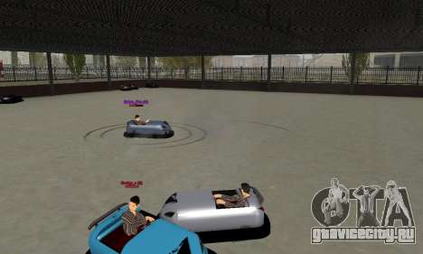 Автомобиль для автодрома для GTA San Andreas вид сзади слева
