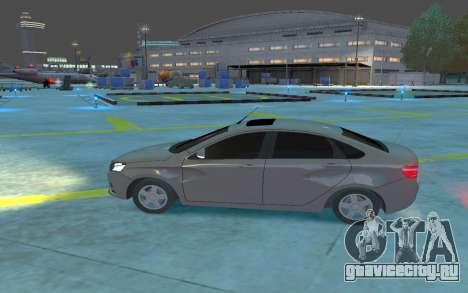 Lada Vesta для GTA 4 вид слева