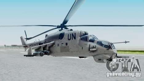 Mi-24V United Nations 032 для GTA San Andreas