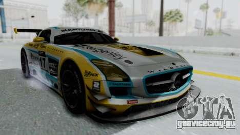 Mercedes-Benz SLS AMG GT3 PJ5 для GTA San Andreas вид сзади