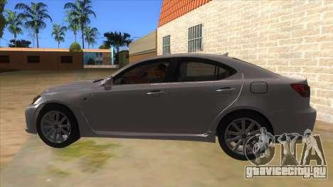 Lexus ISF для GTA San Andreas вид слева