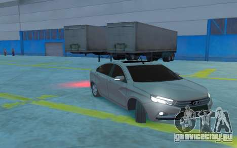 Lada Vesta для GTA 4 вид изнутри