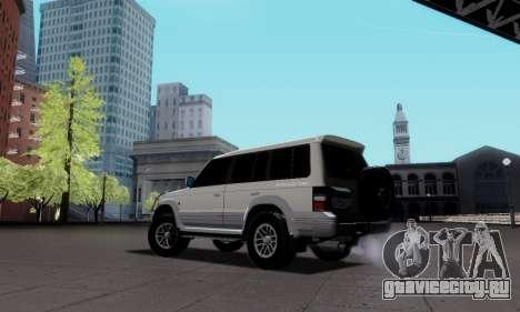 Mitsubishi Pajero 2 для GTA San Andreas вид слева