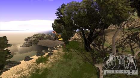 Строительство моста и густой лес для GTA San Andreas седьмой скриншот