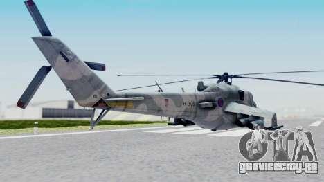 Mi-24V Croatian Air Force H-035 для GTA San Andreas вид слева
