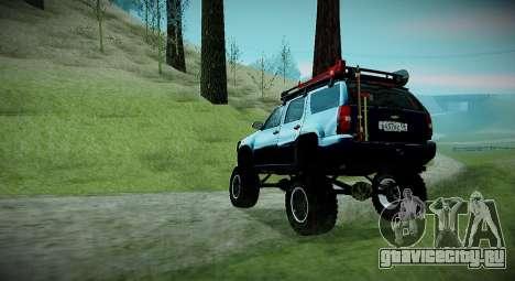 Chevrolet Tahoe LTZ 4x4 для GTA San Andreas вид сзади слева