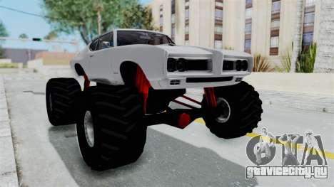 Pontiac GTO 1968 Monster Truck для GTA San Andreas