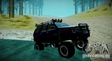 Chevrolet Tahoe LTZ 4x4 для GTA San Andreas вид сверху