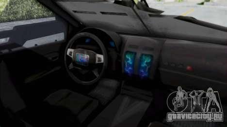 Advanced Warfare Tactical Pickup для GTA San Andreas вид справа