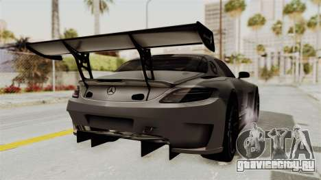 Mercedes-Benz SLS AMG GT3 PJ1 для GTA San Andreas вид сзади слева