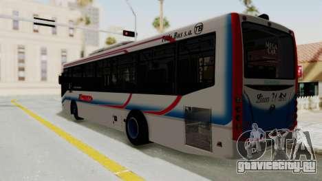 Todo Bus Pompeya II Agrale MT15 Linea 71 для GTA San Andreas вид слева