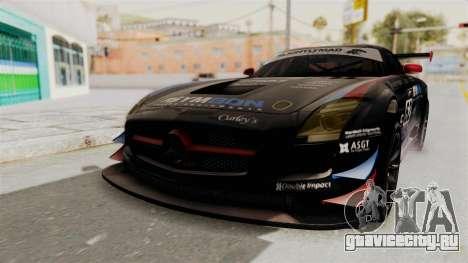 Mercedes-Benz SLS AMG GT3 PJ1 для GTA San Andreas вид сзади