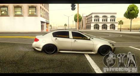Infiniti G37 для GTA San Andreas вид слева