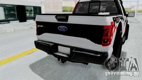 Ford F-150 Raptor 2015 для GTA San Andreas вид сбоку