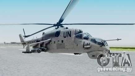 Mi-24V United Nations 032 для GTA San Andreas
