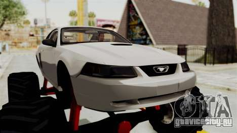 Ford Mustang 1999 Monster Truck для GTA San Andreas вид сзади