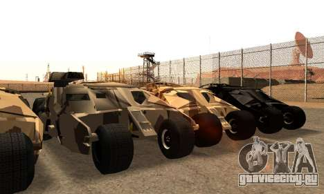 Army Tumbler Gun Tower from TDKR для GTA San Andreas вид снизу