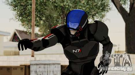 ME2 Shepard Default N7 Armor with Capacitor Helm для GTA San Andreas