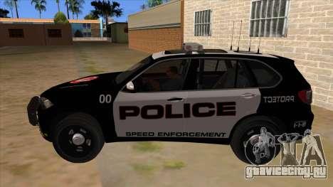 2014 BMW X5 F15 Police для GTA San Andreas вид слева