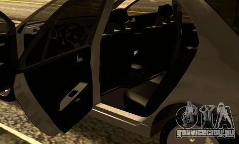 Mitsubishi Lancer 2005 для GTA San Andreas вид изнутри