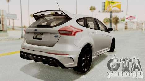 Ford Focus RS 2017 для GTA San Andreas вид справа