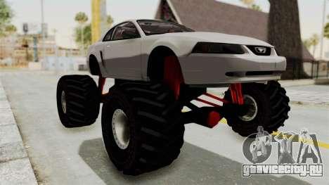 Ford Mustang 1999 Monster Truck для GTA San Andreas вид справа