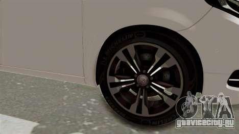 Mercedes-Benz V-Class 2015 для GTA San Andreas вид сзади