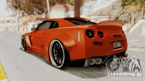 Nissan GT-R R35 Liberty Walk LB Performance для GTA San Andreas вид слева