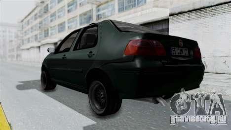 Fiat Albea для GTA San Andreas вид сзади слева
