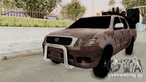 Toyota Hilux 2014 Army Libyan для GTA San Andreas