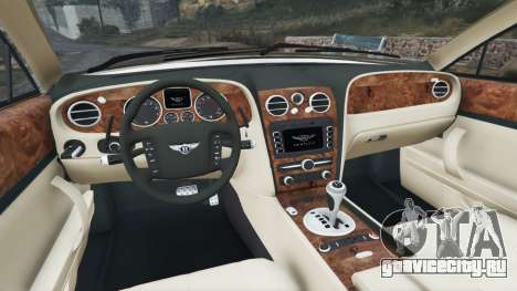 Bentley Continental Flying Spur 2010 для GTA 5 вид сзади справа