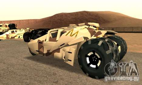 Army Tumbler Gun Tower from TDKR для GTA San Andreas вид слева