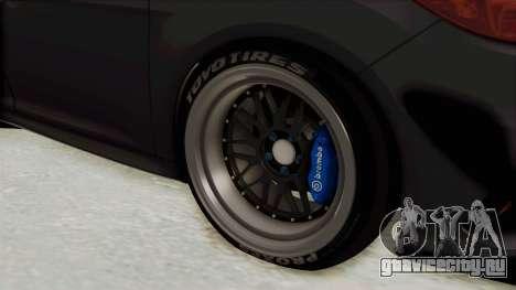 Ford Focus RS 2017 Rocket Bunny для GTA San Andreas вид сзади
