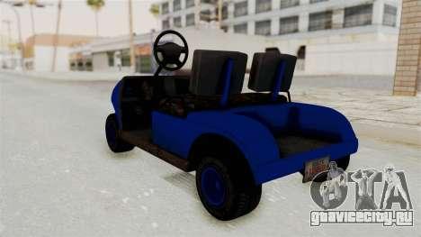 GTA 5 Gambler Caddy Golf Cart IVF для GTA San Andreas вид сзади слева