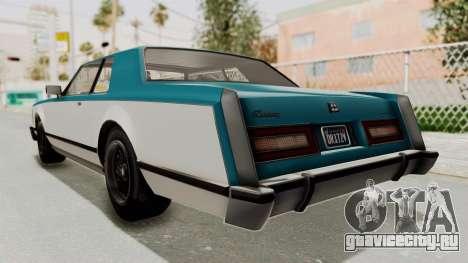 GTA 5 Dundreary Virgo Classic IVF для GTA San Andreas вид справа