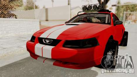 Ford Mustang 1999 Rusty Rebel для GTA San Andreas вид справа
