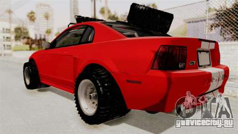 Ford Mustang 1999 Rusty Rebel для GTA San Andreas вид сзади слева