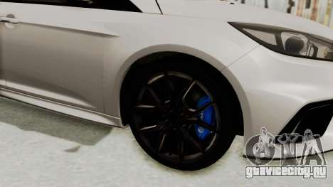 Ford Focus RS 2017 для GTA San Andreas вид сзади