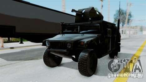 Humvee M1114 Woodland для GTA San Andreas вид справа