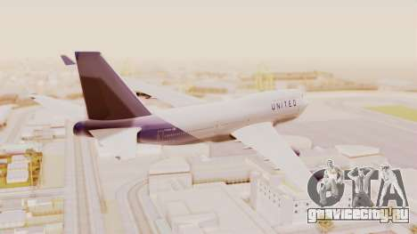 Boeing 747-400 United Airlines для GTA San Andreas вид слева