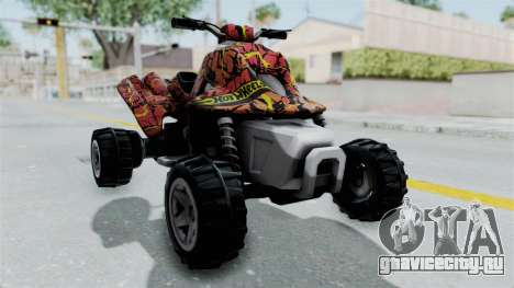 Sand Stinger from Hot Wheels Worlds Best Driver для GTA San Andreas вид справа