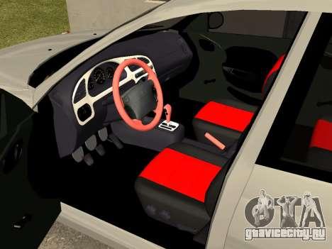 Daewoo Lanos (Sens) 2004 v1.0 by Greedy для GTA San Andreas вид изнутри