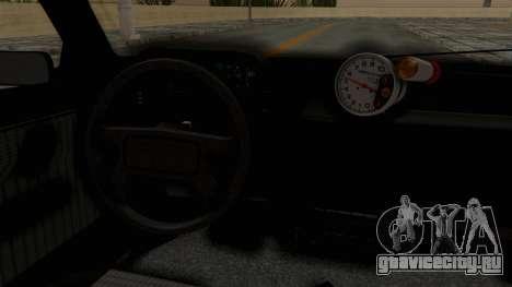 Fiat Uno для GTA San Andreas вид изнутри
