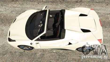 Ferrari 488 GTS для GTA 5 вид сзади