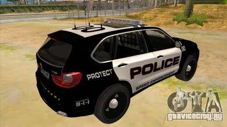 2014 BMW X5 F15 Police для GTA San Andreas вид справа