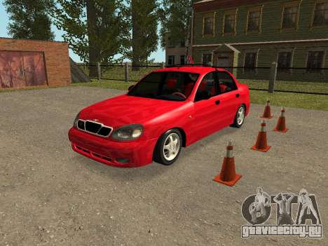 Daewoo Lanos (Sens) 2004 v1.0 by Greedy для GTA San Andreas вид снизу