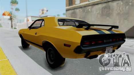 Dodge Challenger RT 440 1970 Six Pack для GTA San Andreas вид слева
