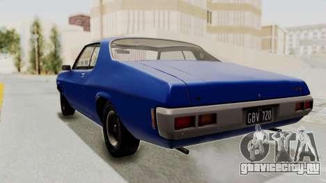 Holden Monaro GTS 1971 AU Plate IVF для GTA San Andreas вид слева