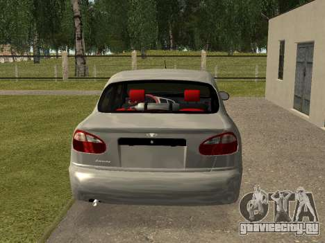 Daewoo Lanos (Sens) 2004 v1.0 by Greedy для GTA San Andreas вид сзади слева